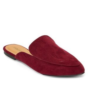 Maurices Red Pointed Toe Faux Suede Mule 6.5